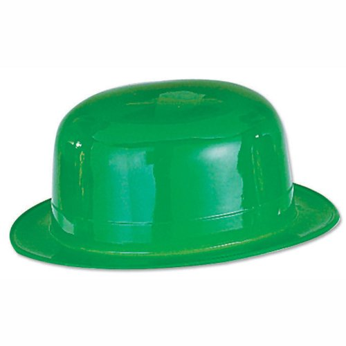 Beistle 33978 48-Pack Plastic Derbies Party Hat, (Green Plastic Derby Hat)