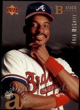 1995 Upper Deck # 108 90's Midpoint Analysis Fred McGriff Atlanta Braves (Baseball Card) Dean's Cards 8 - NM/MT Braves ()