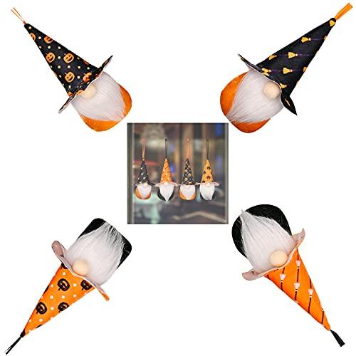 4 pcs Gnomes Doll Walking Stick Standing Poses Doll Midyear Decoration Halloween Scandinavian Handmade Swedish Decorations Kids Gift