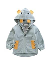 Kanodan Toddler Boy Hooded Windbreaker Autumn Cotton Outwear Jacket Cartoon