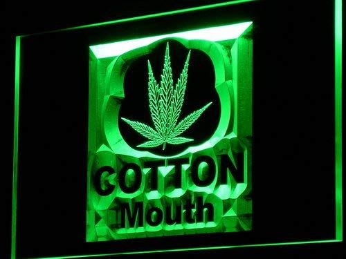 ADVPRO - Cartel de hojas de cáñamo Marihuana con luz LED de ...