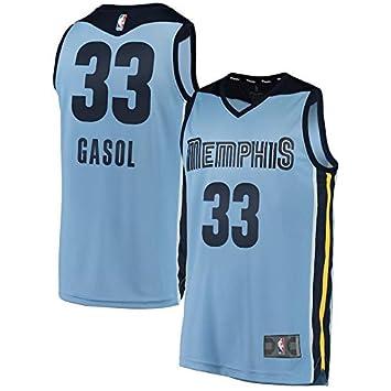 PQCHNBA NBA Memphis Grizzlies Marc-Gasol 33 Fan Men Jersey (Azul Claro, L
