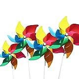 FRESHOER (4 por Paquete) Molinos de Viento de Colores como Regalos para Que los niños jueguen, o como una decoración para Jardines de Infantes, Jardines, Cuartos de niños, Fiestas o vitrinas