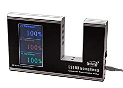 New LS183 Spectrum Transmission Meter UV IR Transmission Meter test film glass window tint with 940 IR 365 UV 380-760nm VL