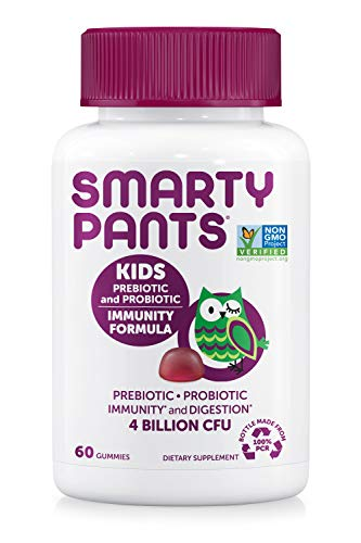 SmartyPants Kids Probiotic Immunity Formula Daily Gummy Vitamins: Probiotics & Prebiotics Boosting Immunity & Digestive…