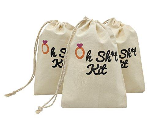 - La Homein Sanrich 20pcs Bachelorette Party Drawstring Pouch Bags 4x6 inch Hangover Kit Bags Bridesmaid Survival Kit