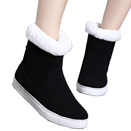 Snowboots Winter Zip Black Snow Warm COOLCEPT Zipper Ankle Women Fashion Boots 6txqBwEa