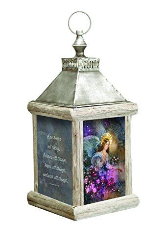 MW Angel Love Fiber Optic Lantern Small 6.25X6.25X12 by MW