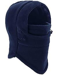 YQXCC Kids Winter Hats Balaclava Ski Mask Windproof Warm Adjustable with Fleece Lining Hat for Boys Girls (Dark Blue)