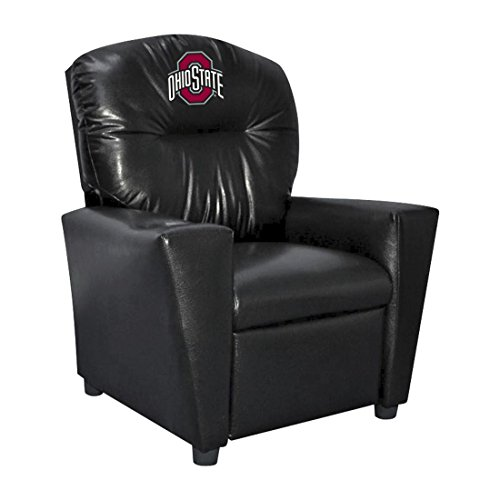 Imperial NCAA Ohio State University Faux Leather Kids Recliner, One Size, Multicolor