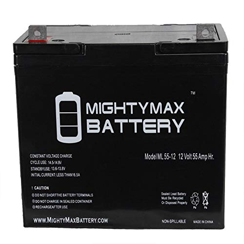 Mighty Max Battery 12V 55Ah Battery for Quickie P222SE for sale  Delivered anywhere in USA