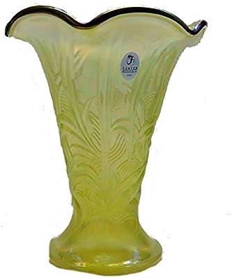 Amazon Fenton Art Glass Vase Embossed Leaf Home Kitchen