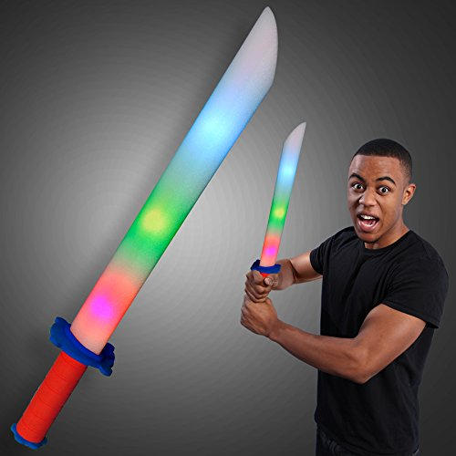 Foam Play Sword Light Up Toys (Set of 3)
