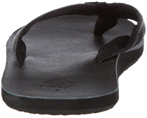 Reef Reef Leather Uptown Metallic - Sandalias Negro