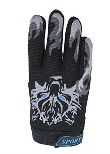 MARZE Bike Cycling Gloves for Children Full Finger Non-Slip Breathable Kids Gloves Warm Sport Mittens