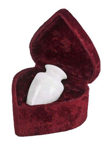 UrnConcern Cremation Urn | Polished White Grain Marble | 3