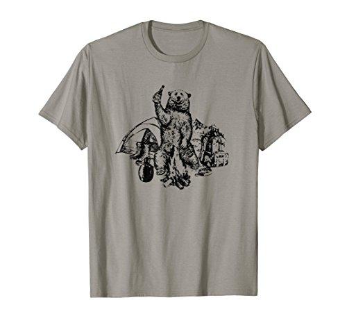 Bear Camp Shirt - Bear Dink Beer Shirt Gift For Camping Lovers