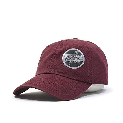 Maroon Womens Hat - Classic Washed Cotton Twill Low Profile Adjustable Baseball Cap (Maroon)