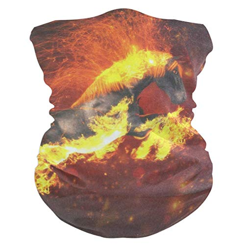 Lovexue Fire Running HorseHeadband Womens Bandana Mens Balaclava,Neck Warmer,Face Mask,Helmet Liner Facemask