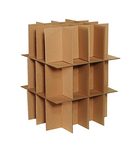 - Boxes Fast BFPARTKIT Dish and Stemware Partition Kit, Includes 3 Partitions and 2 Layer Pads, for Shipping, Moving, Packing or Storage, Kraft