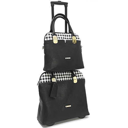 cabrelli-casey-checker-15-inch-laptop-and-work-tote-set-briefcase-black