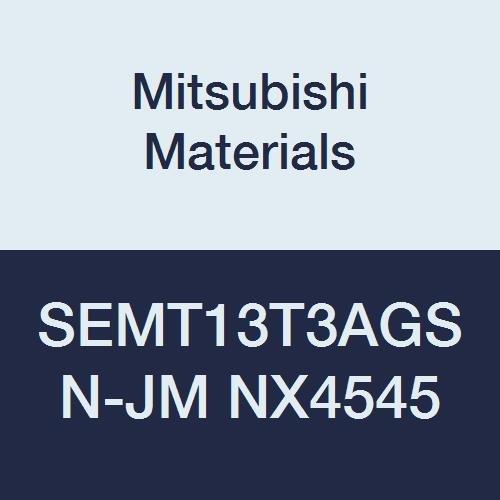 Pack of 10 Round Honing 0.059 Corner Radius Mitsubishi Materials SEMT13T3AGSN-JM NX4545 Uncoated Cermet Milling Insert Square Class M