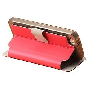 compra Dibuja la caja del cuero del estilo de banco con ranura para tarjeta y la carpeta para el iPhone 5C (colores surtidos) , Blanco