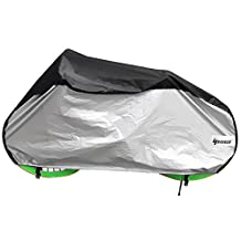 Ipow® Cycle Bike Bicycle Rain Dust Snow Waterproof Cover with Bag, Black/Sliver