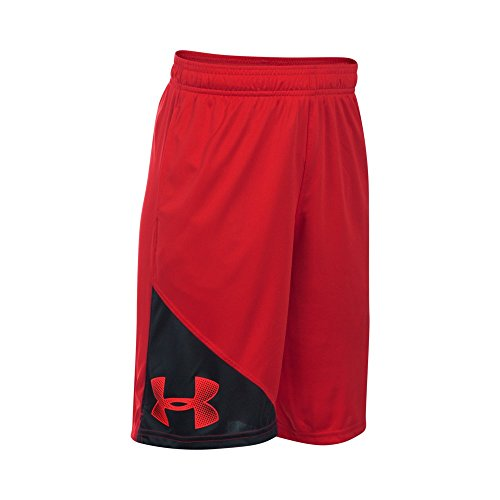 [Under Armour Boys' Tech Shorts, Red/Black, Youth Medium] (Red Boys Shorts)