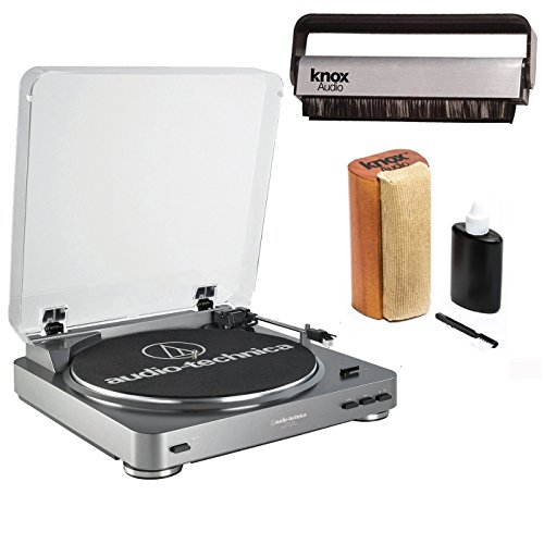 Audio Technica Turntable - Audio-Technica AT-LP60 Turntable w/Knox Vinyl Brush Cleaner & Cleaning Kit