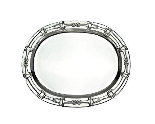 Arthur Court Designs Aluminum Equestrian Bits Oval Platter 19