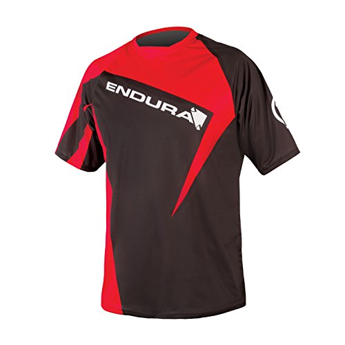Endura SingleTrack Print II Cycling T Red, Large