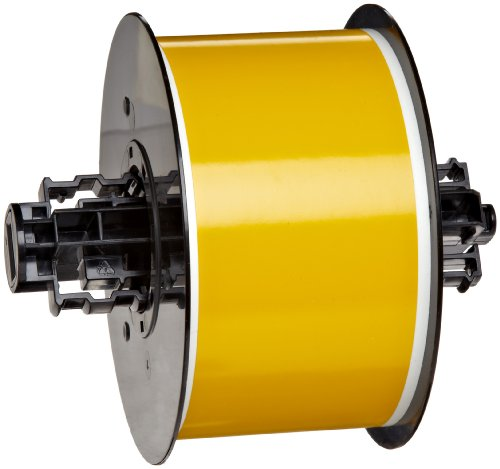 Brady B30C-2250-595-YL 100' Length x 2.250'' Width, B-595 Vinyl, Yellow BBP31 Indoor/Outdoor Tape by Brady