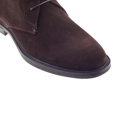 Steptronic Ghia marron daim à lacets classique Chukka Bottines pour confort de luxe