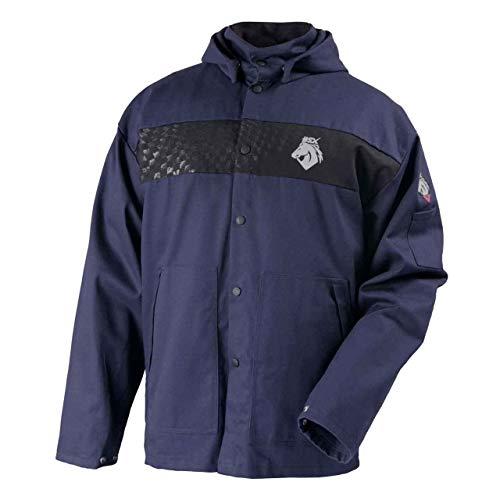 Black Stallion JF1633-NB BSX Hooded Welding Jacket, FR Cotton, Medium
