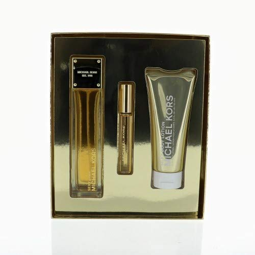 - MICHAEL KORS SEXY AMBER 3.4 OZ GIFTSET WITH .24 MINIAND 3.4 OZ BODY CREAM
