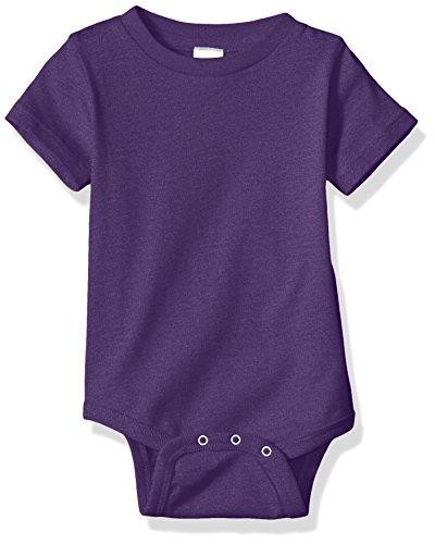 (Clementine Baby Premium Short Sleeve Bodysuit Onsie, Vintage Purple, NB)