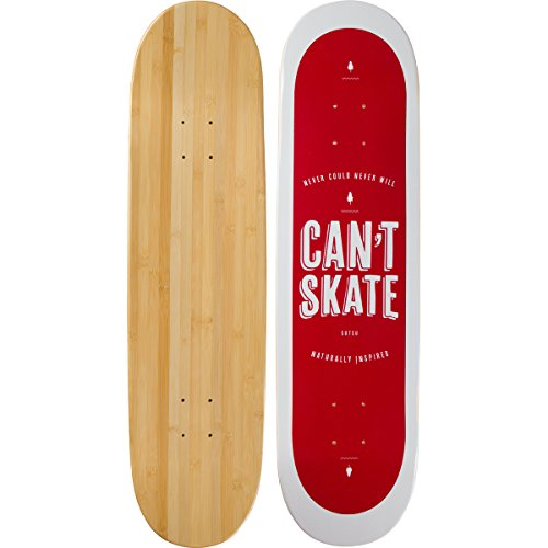 Bamboo Skateboards Can't Skate Graphic Skateboard Deck, 8