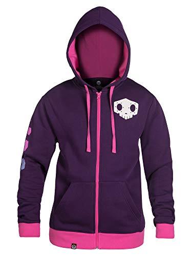 JINX Overwatch Ultimate Sombra Zip-Up Hoodie (Purple, Large)