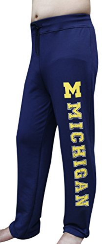Men's Michigan Wolverines Lounge Pajamas Vintage Sporty Pant Trousers - Navy (Size: S)