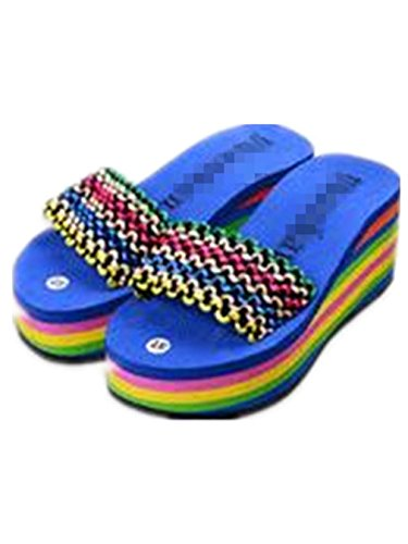 Boowhol - Sandalias de Material Sintético para mujer Azul