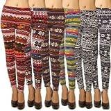 Women's Fleece-Lined Printed Legging (Pack of 1)