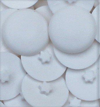 50 Stück Abdeckkappen für InnenStern Gr.20 Schrauben Weiß RAL 9010 MK-BT