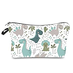 Cosmetic Bag for Women, Multifuncition Travel Makeup Bags Waterproof Toiletry Bag Accessories Organizer with Zipper (Dinosaur)