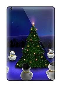 Ipad Mini/mini 2 Case Cover - Slim Fit Tpu Protector Shock Absorbent Case (christmas)