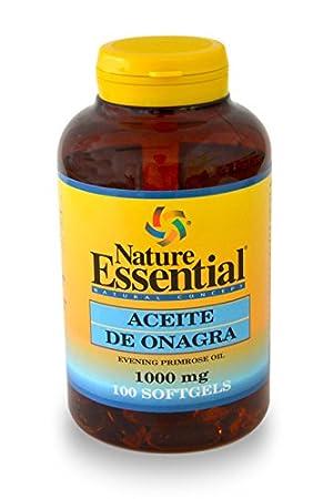 Aceite de onagra 1000 mg. (10% gla) 100 perlas con vitamina E: Amazon.es: Salud y cuidado personal
