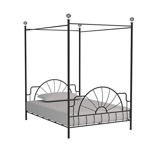 ACME 02084F Sunburst Full Canopy Bed HB/FB Black Finish  sc 1 st  eBay & ACME 02084F Sunburst Full Canopy Bed HB/FB Black Finish | eBay