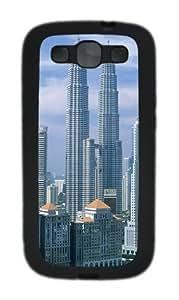 3D Building Custom Design Samsung Galaxy S3 Case Cover - TPU - Black