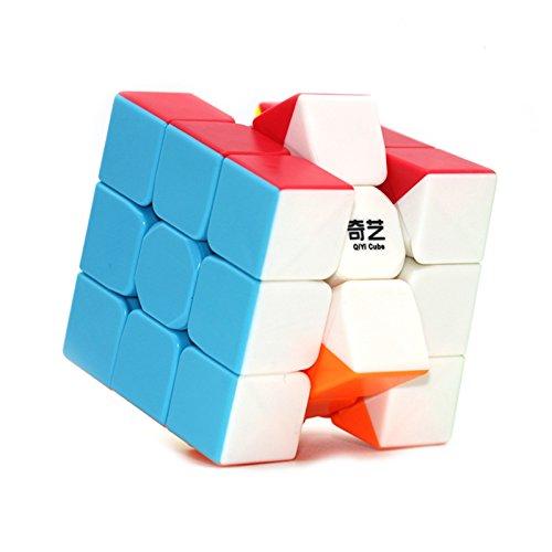 Qiyi Mo Fang Ge 3x3x3 Magic cube Stickerless Speed Cube Puzzle Twist
