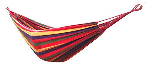 Honesh Outdoor Leisure Double 2 Person Cotton Hammocks 450lbs Ultralight Camping Hammock